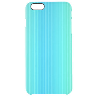 Rayures abstraites de vert bleu de turquoise de coque iPhone 6 plus