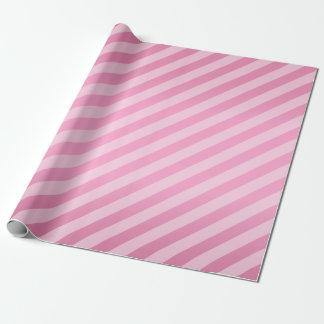 Rayures assez roses et diagonales papier cadeau