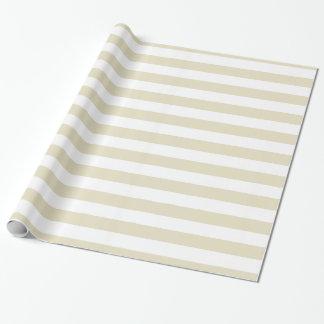Rayures beiges du blanc XL de sable Papier Cadeau Noël