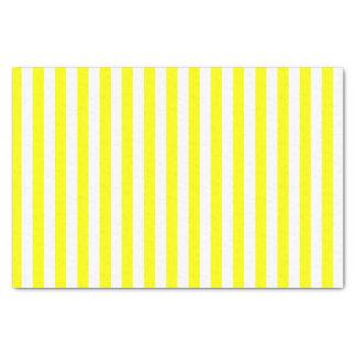 Rayures blanches et jaunes papier mousseline