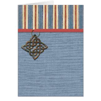 Rayures bleues armure et médaillon carte