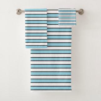 Rayures bleues, blanches et noires en pastel