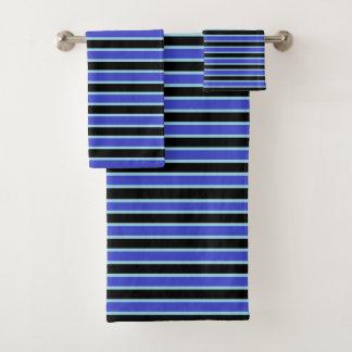 Rayures bleues bleu-foncé, noires et en pastel