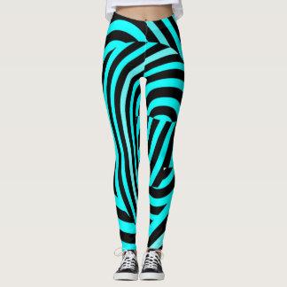Rayures bleues célèbres de tigre leggings
