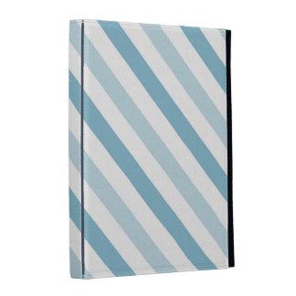 Rayures bleues de glace coques iPad folio