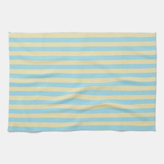 Rayures bleues et beiges en pastel serviette éponge