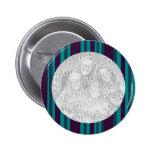 Rayures bleues et noires turquoises badge