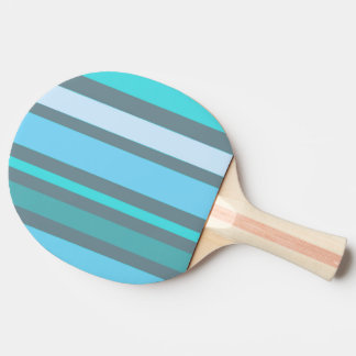 Rayures bleues et vertes raquette tennis de table