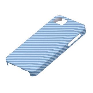 Rayures bleues minces [personnalisables] coque iPhone 5 Case-Mate