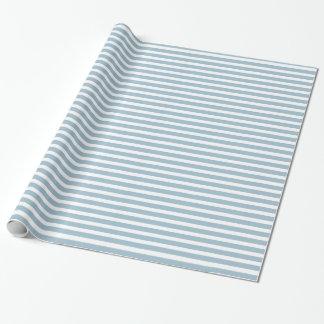 Rayures bleues nautiques papiers cadeaux noël