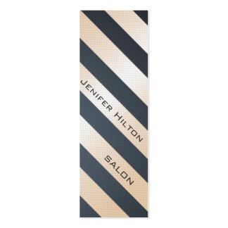 Rayures brillantes modernes douces élégantes profe carte de visite petit format