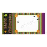 Rayures colorées - couleurs et motif de Halloween Cartes Avec Photo