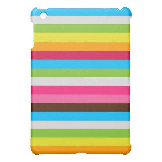 rayures d'arc-en-ciel étuis iPad mini