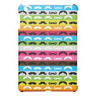 rayures d'arc-en-ciel de moustache étui iPad mini