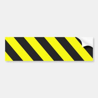 Rayures d'avertissement noires jaunes autocollant pour voiture