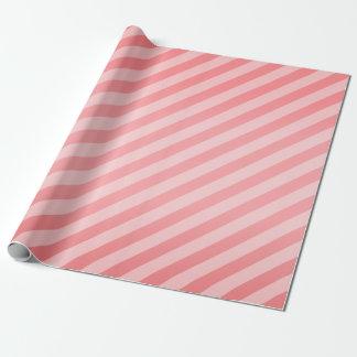 Rayures de corail et diagonales papier cadeau