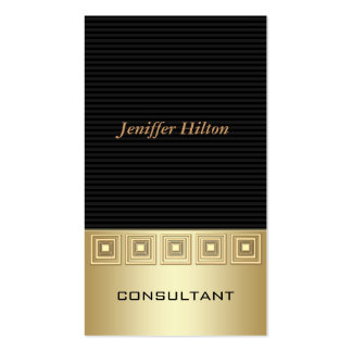 Rayures de luxe élégantes professionnelles d'or carte de visite standard