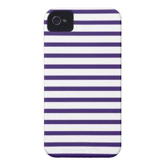 Rayures de marin - bleu marine et blanc coques iPhone 4