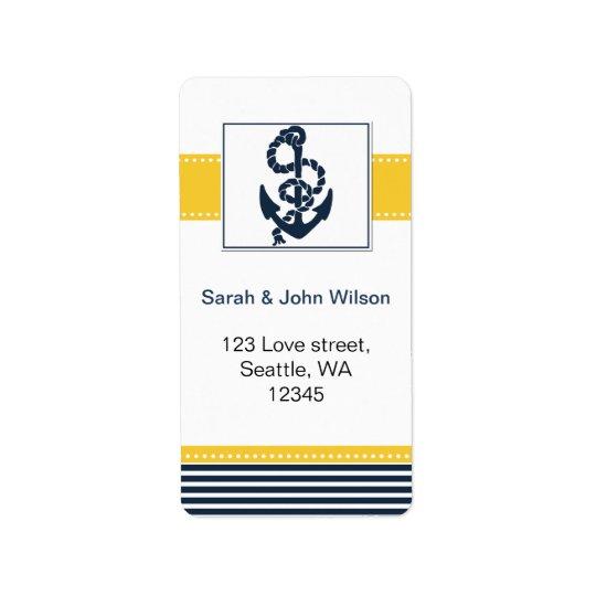 rayures de marine, ancre, étiquettes nautiques de