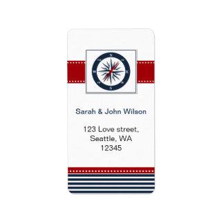 rayures de marine, boussole, étiquettes nautiques