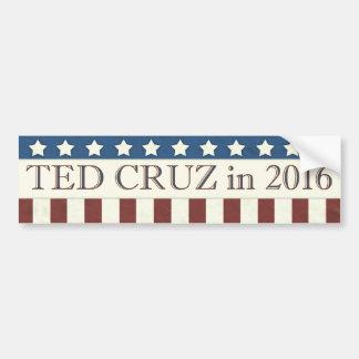 Rayures de président 2016 étoiles de Ted Cruz Autocollant De Voiture