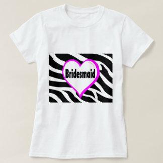 Rayures de zèbre de demoiselle d'honneur t-shirts