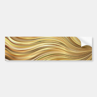 Rayures débordantes abstraites d'or élégant de autocollant pour voiture