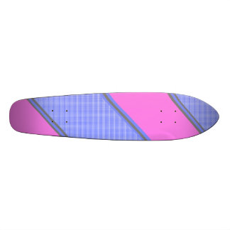 Rayures diagonales bleues roses modernes skateboard