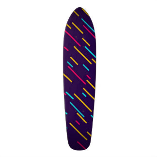 Rayures diagonales colorées skateboards