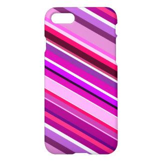 Rayures diagonales dans les roses, les pourpres, coque iPhone 7