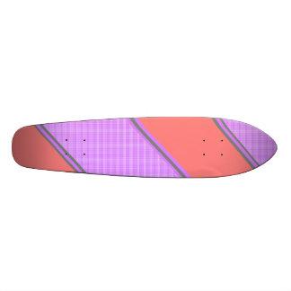 Rayures diagonales violettes roses modernes skateboard