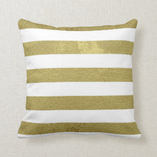 Rayures d'or coussin