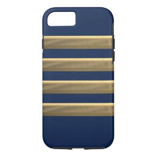 Rayures d'or de capitaine coque iPhone 7
