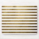 rayures d'or imprimées de couleur tapis de souris