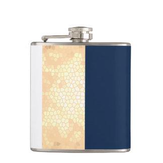 rayures élégantes de blanc de bleu marine d'or flasques