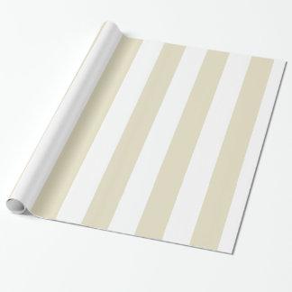 Rayures énormes blanches beiges de sable papiers cadeaux