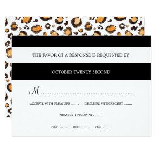 Rayures et empreinte de léopard | RSVP moderne Carton D'invitation 8,89 Cm X 12,70 Cm