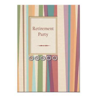 Rayures et retraite de rivets carton d'invitation  12,7 cm x 17,78 cm