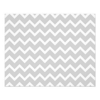 Rayures grises et blanches de zigzag prospectus 11,4 cm x 14,2 cm