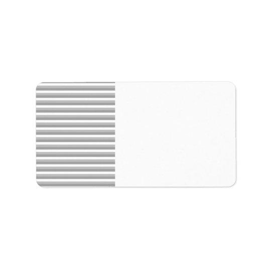 Rayures grises et blanches. Modèle Étiquette D'adresse