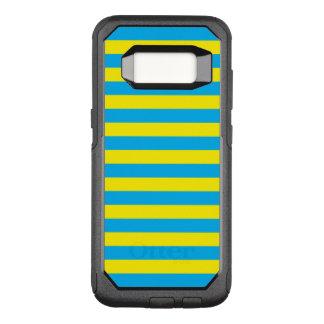 Rayures horizontales bleues et jaunes coque samsung galaxy s8 par OtterBox commuter