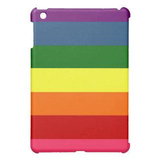 Rayures horizontales d'arc-en-ciel coques iPad mini