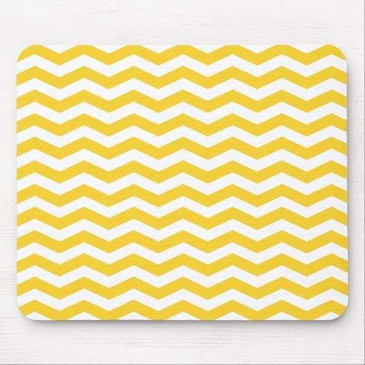 Rayures jaunes de Chevron Tapis De Souris