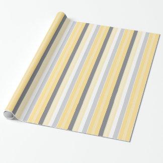 Rayures jaunes ensoleillées papiers cadeaux noël
