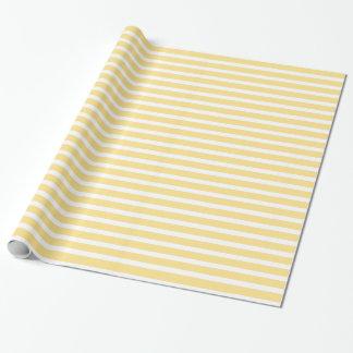 Rayures jaunes et blanches papier cadeau