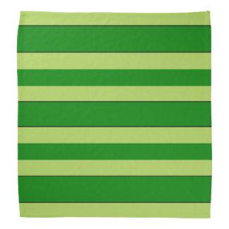 Rayures légères et vert-foncé bandanas