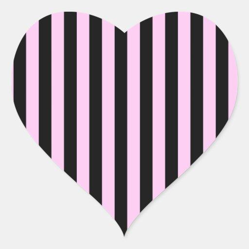 Decoration Murale Design Salon : Rayures (lignes parallèles)  noir rose sticker cœur  Zazzle