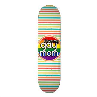 Rayures lumineuses d arc-en-ciel maman gaie skateboards customisés