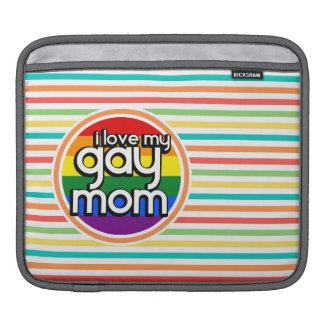 Rayures lumineuses d arc-en-ciel maman gaie poches iPad