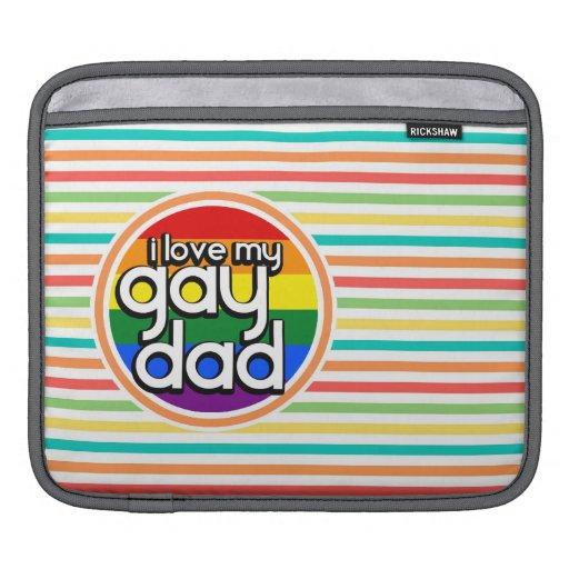 Rayures lumineuses d'arc-en-ciel, papa gai housses iPad